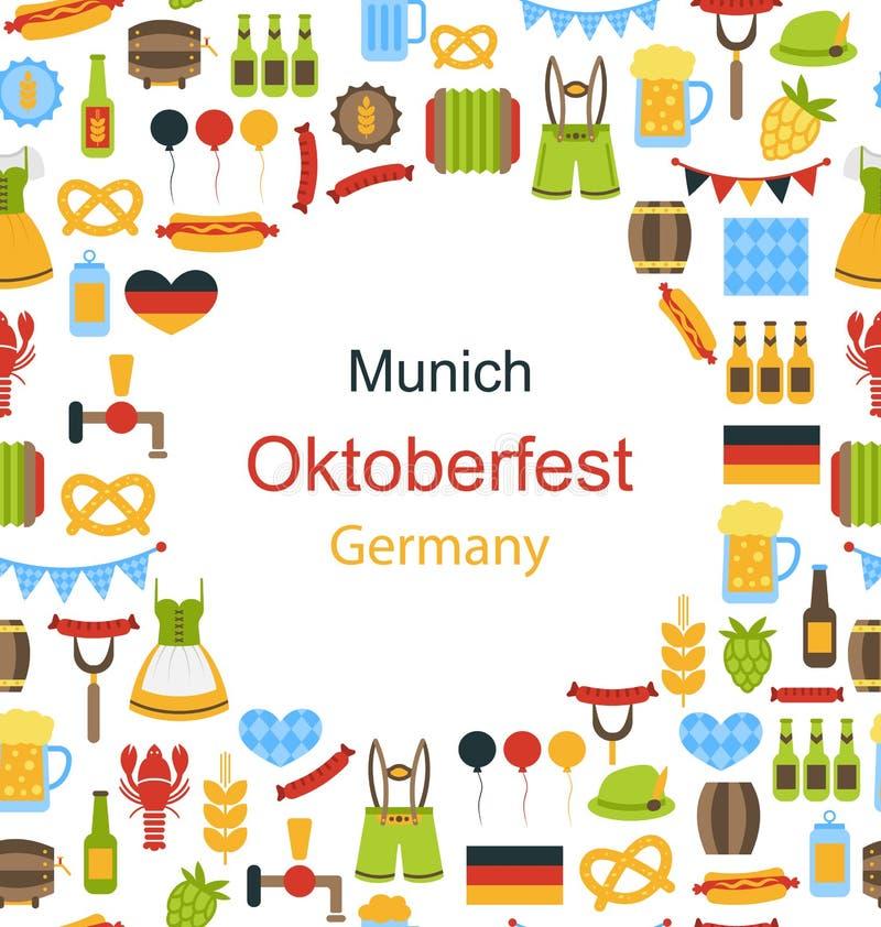 Oktoberfest Border Frame royalty free illustration