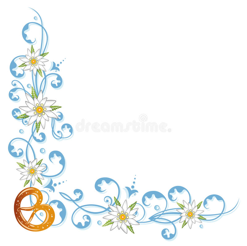 Oktoberfest, Brezel, Blumen vektor abbildung