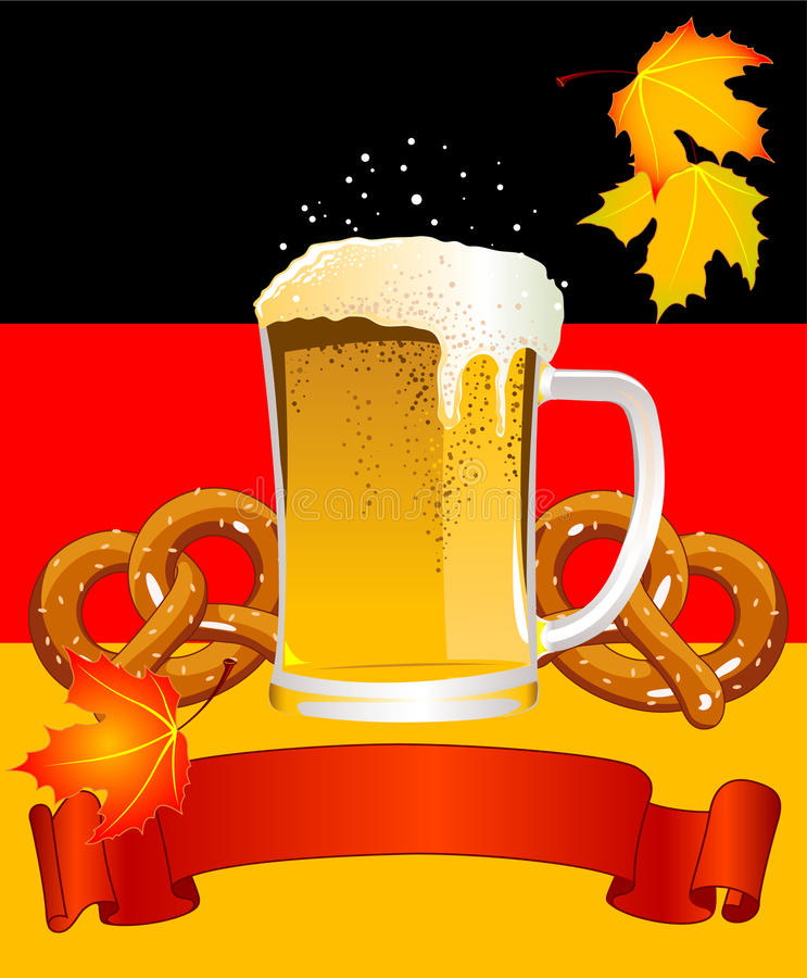 Oktoberfest Celebration Background royalty free illustration