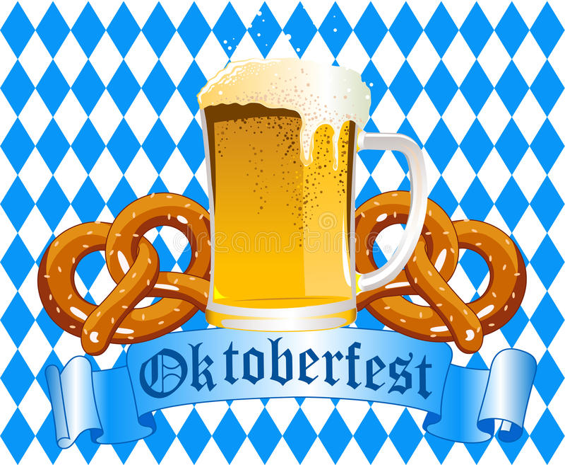 Oktoberfest Celebration Background vector illustration