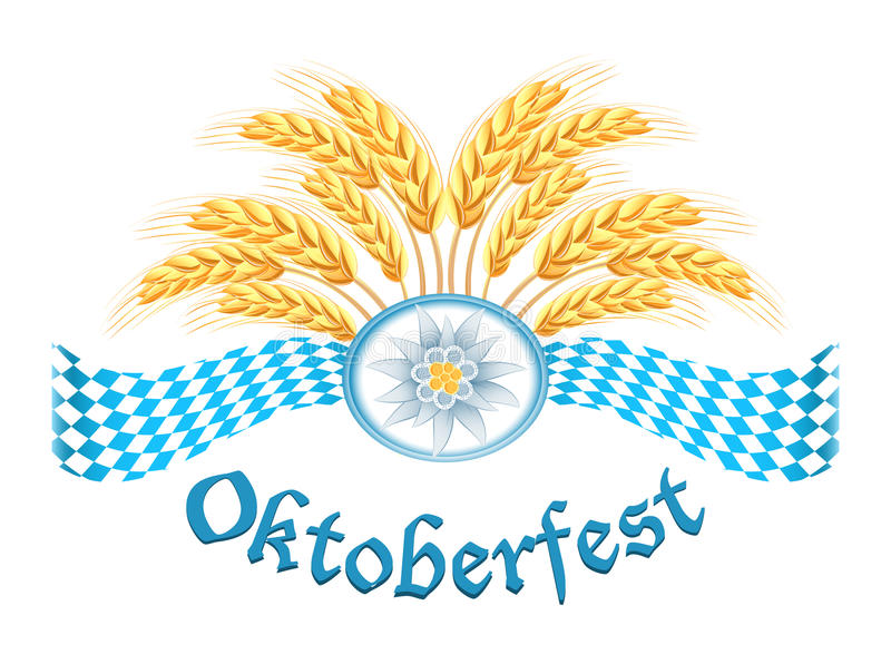 Oktoberfest celebration design stock illustration