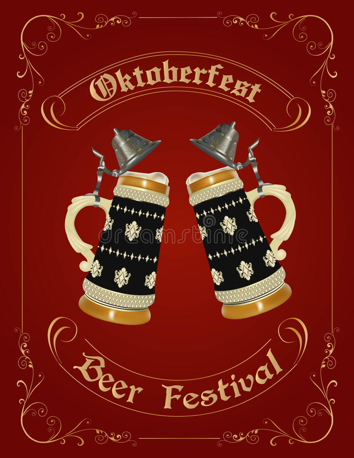 Oktoberfest celebration design stock photos