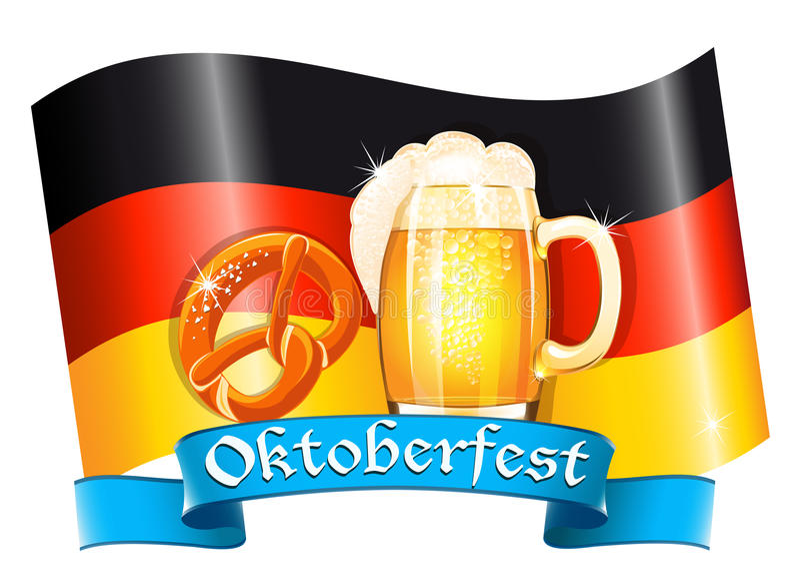 Oktoberfest celebration design royalty free illustration