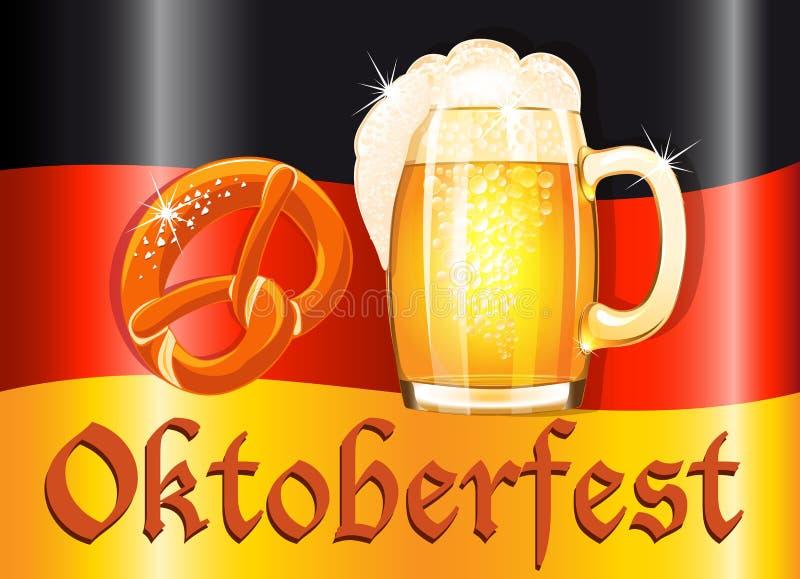 Oktoberfest celebration design stock illustration