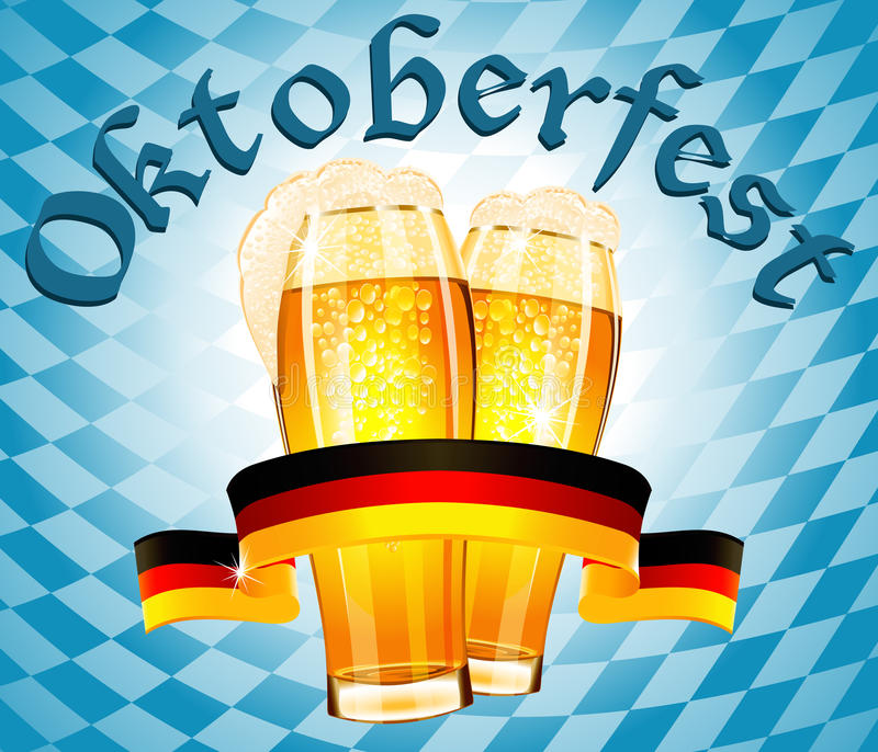 Oktoberfest celebration design royalty free illustration