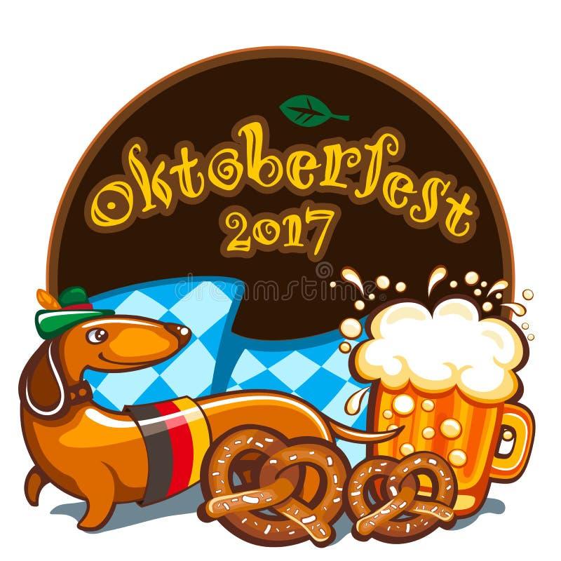 Oktoberfest celebration, vector banner series vector illustration