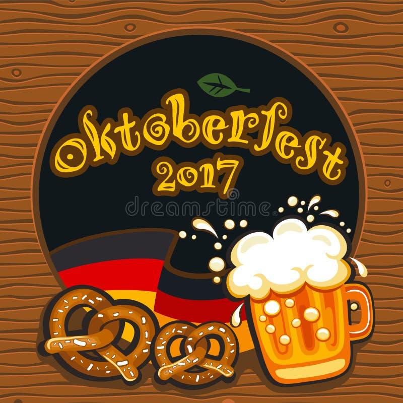 Oktoberfest celebration, vector banner series stock illustration