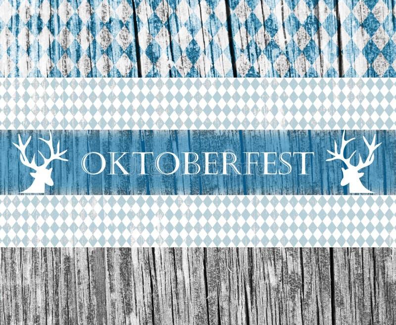 Oktoberfest-Design über hölzernem Hintergrund Entwerfen Sie für das berühmte, traditionelle bayerische Oktoberfest stockbilder