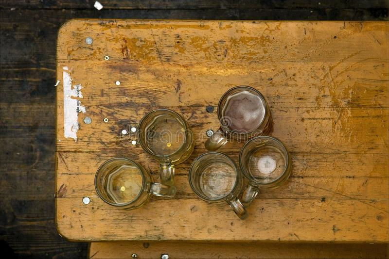 Oktoberfest en bier stock afbeelding