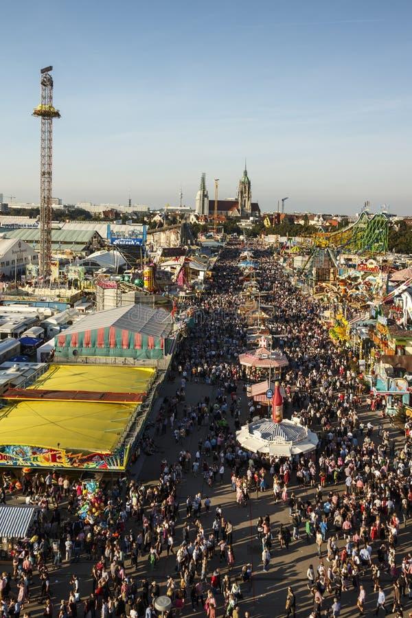 Oktoberfest fairgound w Monachium, Niemcy, 2016 obraz royalty free