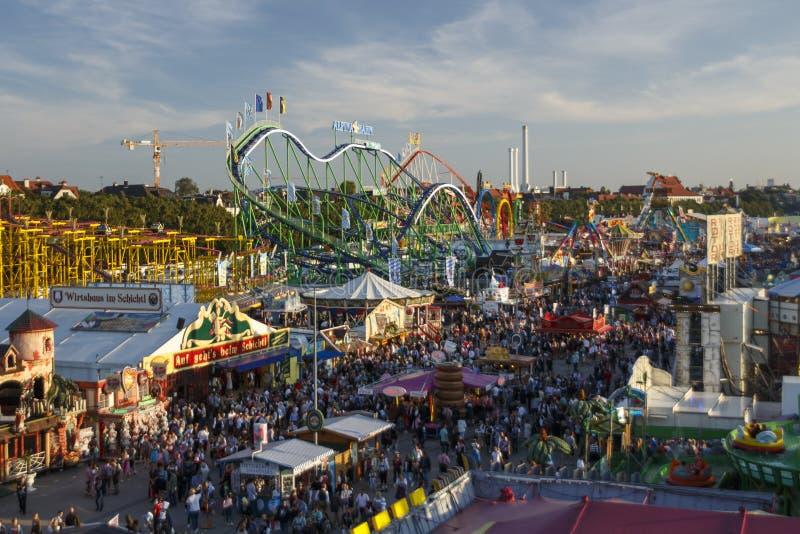 Oktoberfest fairgound w Monachium, Niemcy, 2016 obrazy stock
