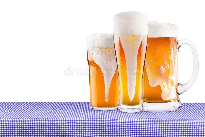 Oktoberfest-Feier-Hintergrund mit Bier stockfotografie
