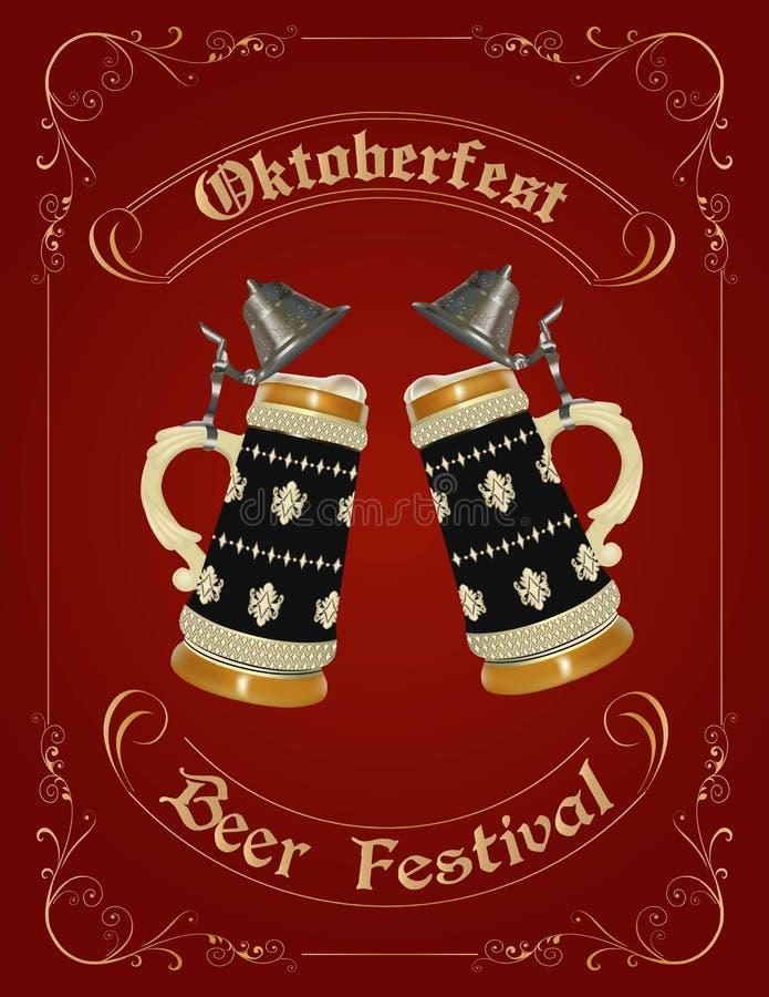 Oktoberfest Feierauslegung stock abbildung