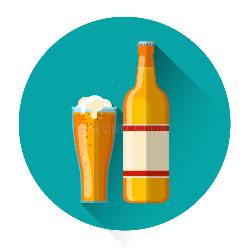 Free Oktoberfest Festival Glas Bottle Glass Mug Beer Icon Stock Photo - 76741440