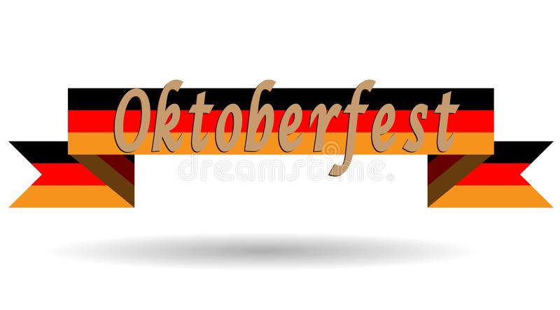 Oktoberfest on Germany flag, flat vector illustration, brochure, banner, logo festival. vector illustration