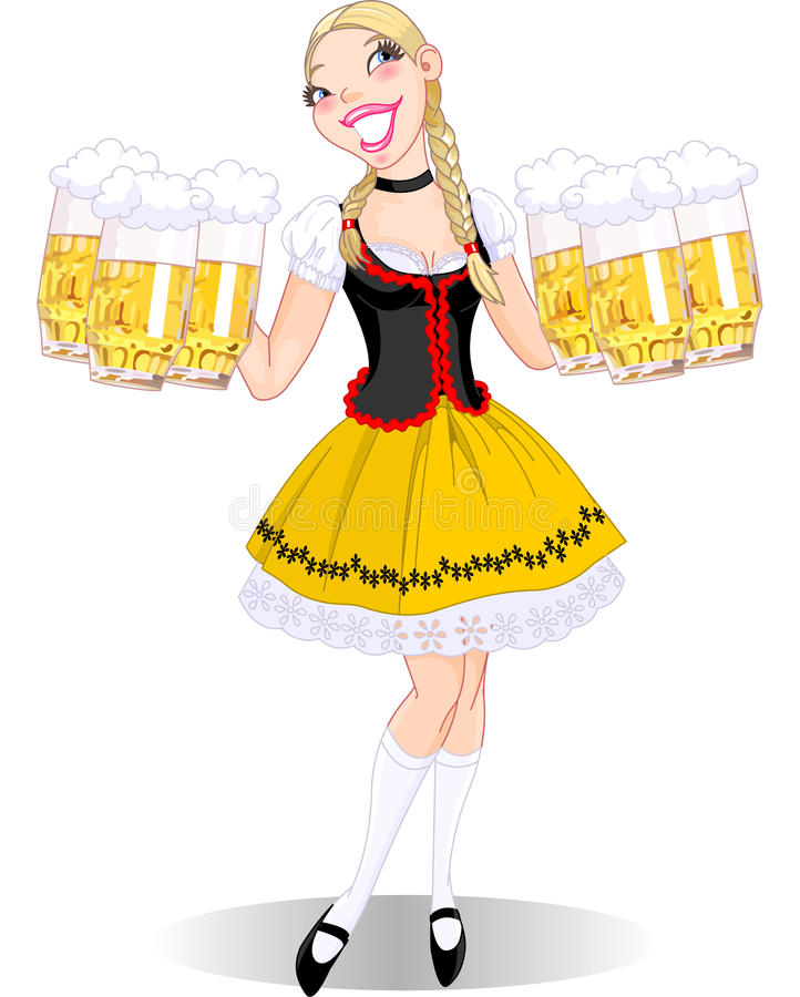 Oktoberfest Girl Royalty Free Stock Images