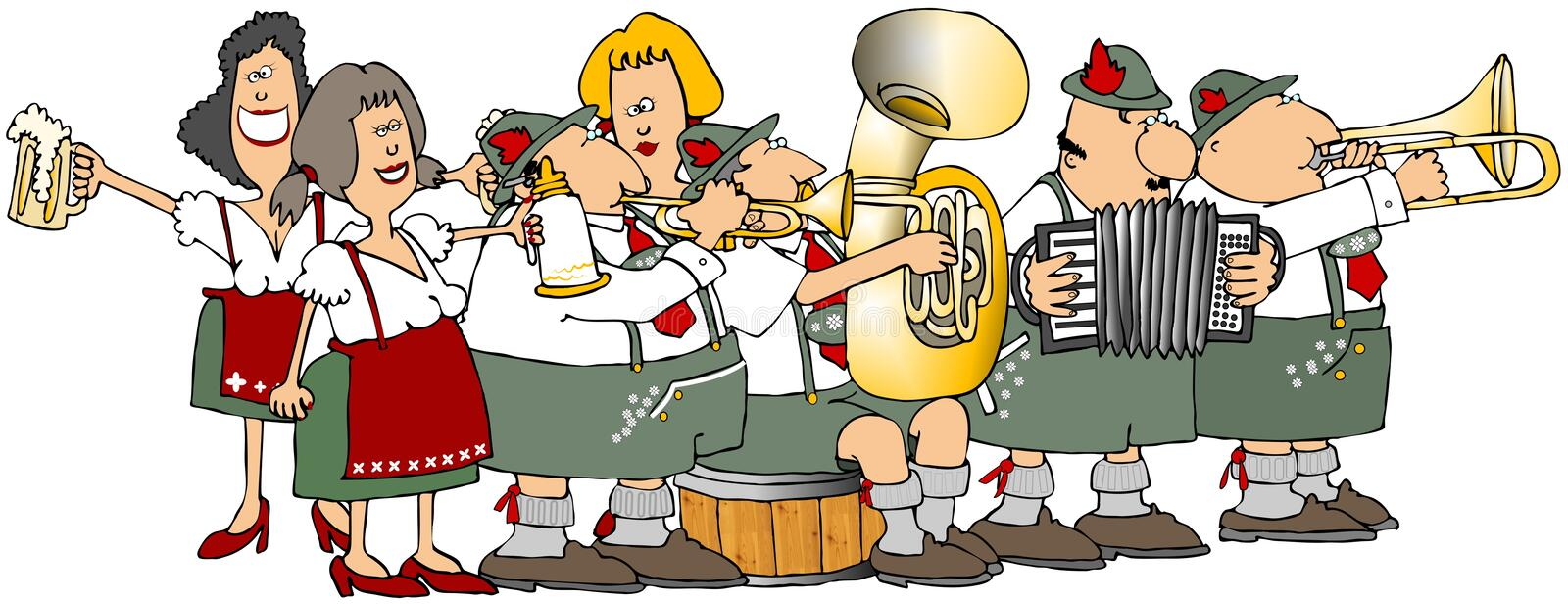 Download Oktoberfest Group stock illustration. Image of musical - 10554624