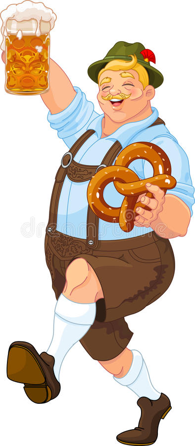 Oktoberfest Guy. Illustration of Oktoberfest guy celebrating vector illustration
