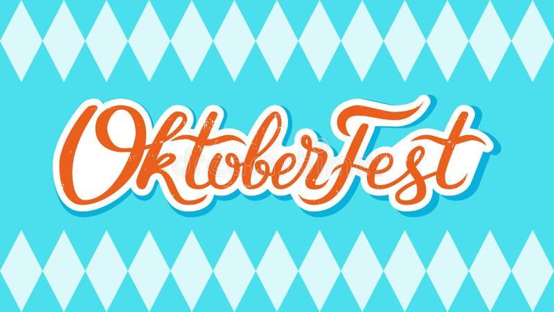 Oktoberfest handskriven bokstäver royaltyfri fotografi