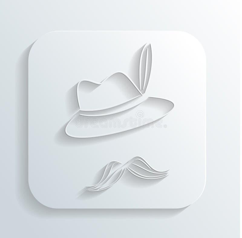 Oktoberfest Hat Mustache Icon Vector Stock Photos