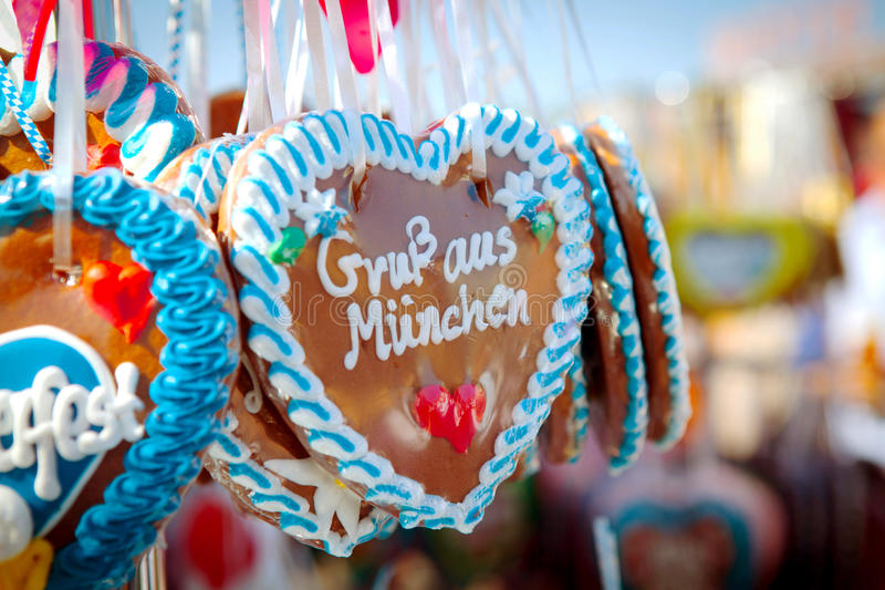 Oktoberfest-Herzen stockbilder