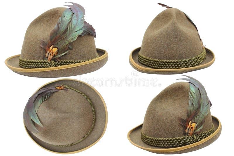 Oktoberfest-Hut in den verschiedenen Ansichten stockbilder