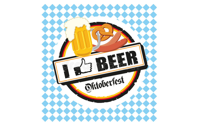 Download Oktoberfest i like beer editorial photography. Image of illustration - 32506447