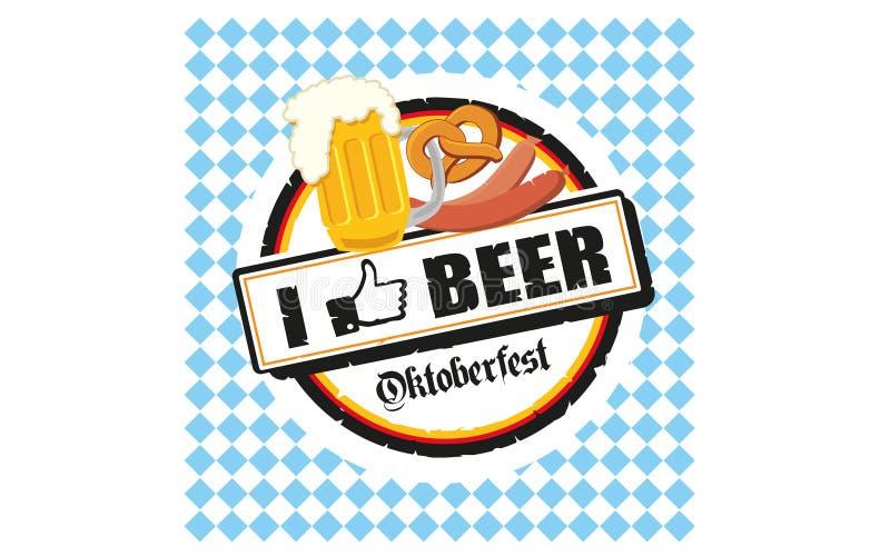 Oktoberfest I mögen Bier stock abbildung