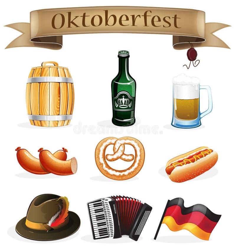 Oktoberfest icons stock illustration