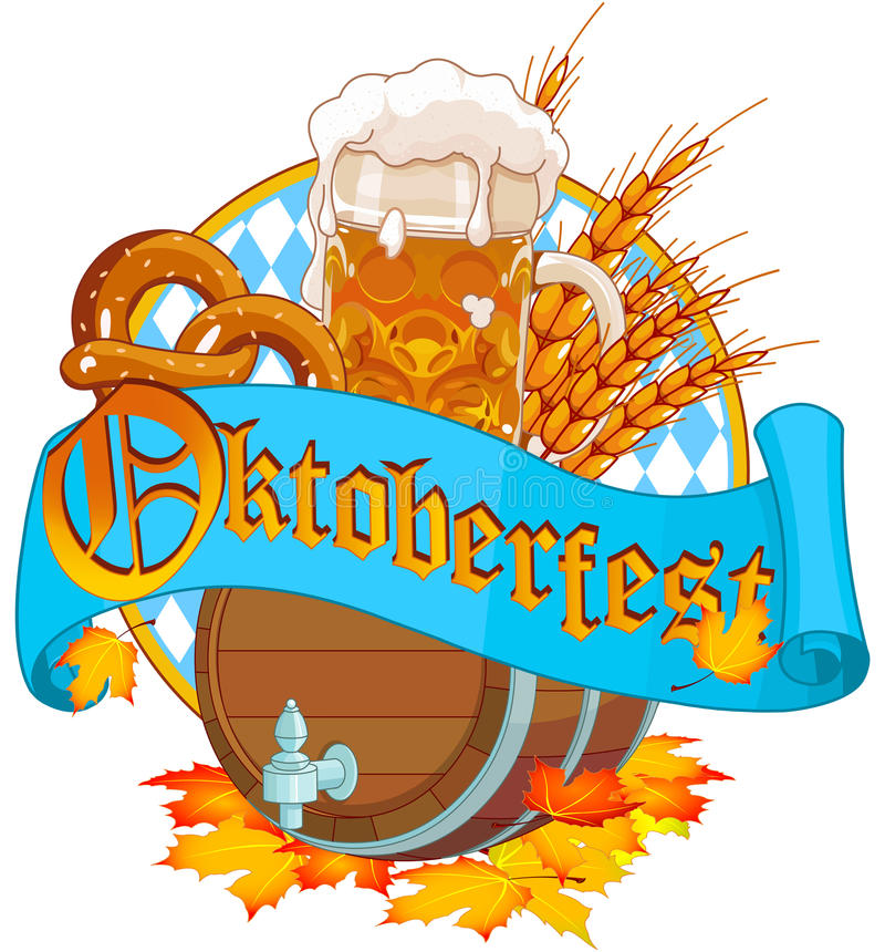 Oktoberfest image stock illustration