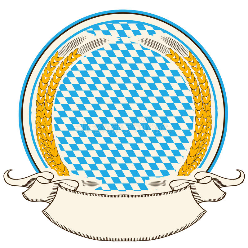 Oktoberfest label . Bavaria flag background with s vector illustration