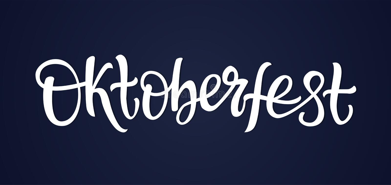 Oktoberfest - letras dibujadas mano de la pluma del cepillo del vector libre illustration