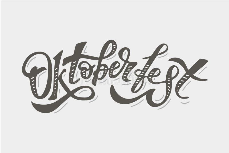 Oktoberfest lettering Calligraphy Brush Text Holiday Sticker vector illustration