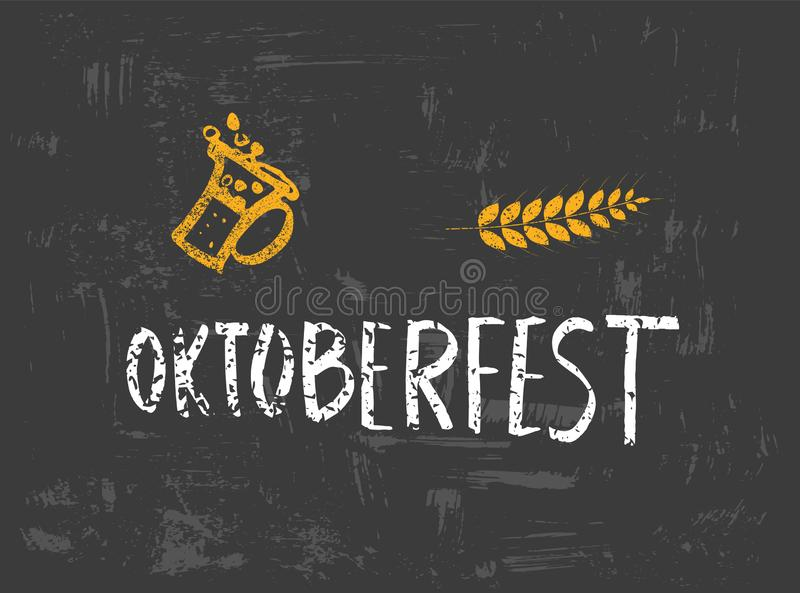 Oktoberfest lettering composition. Vector illustration. vector illustration
