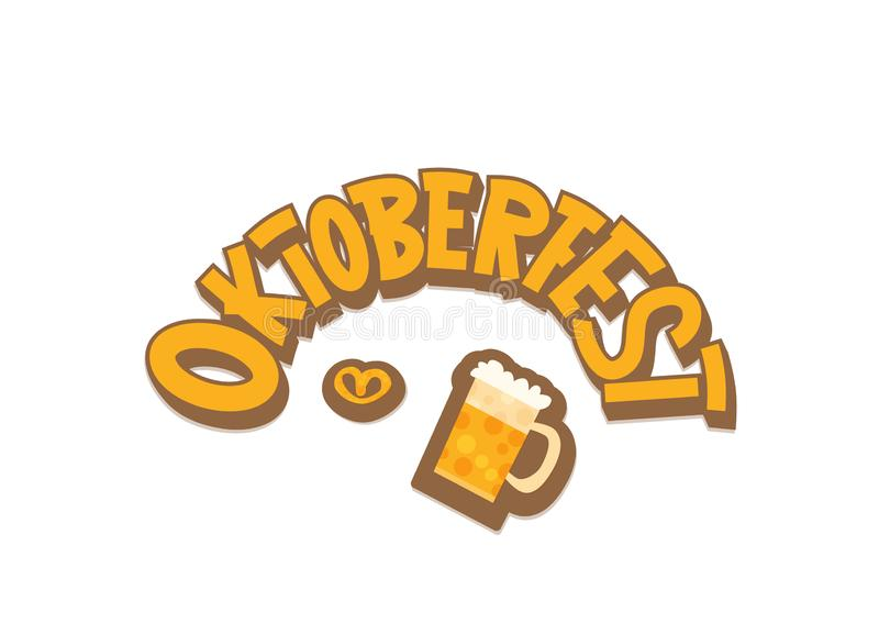 Oktoberfest lettering composition. Vector illustration. royalty free illustration