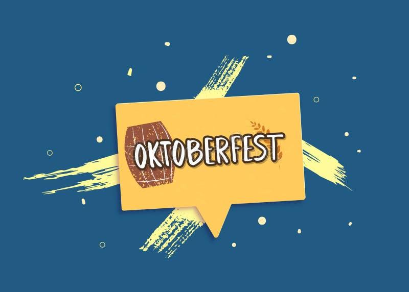 Oktoberfest lettering composition. Vector illustration. stock illustration