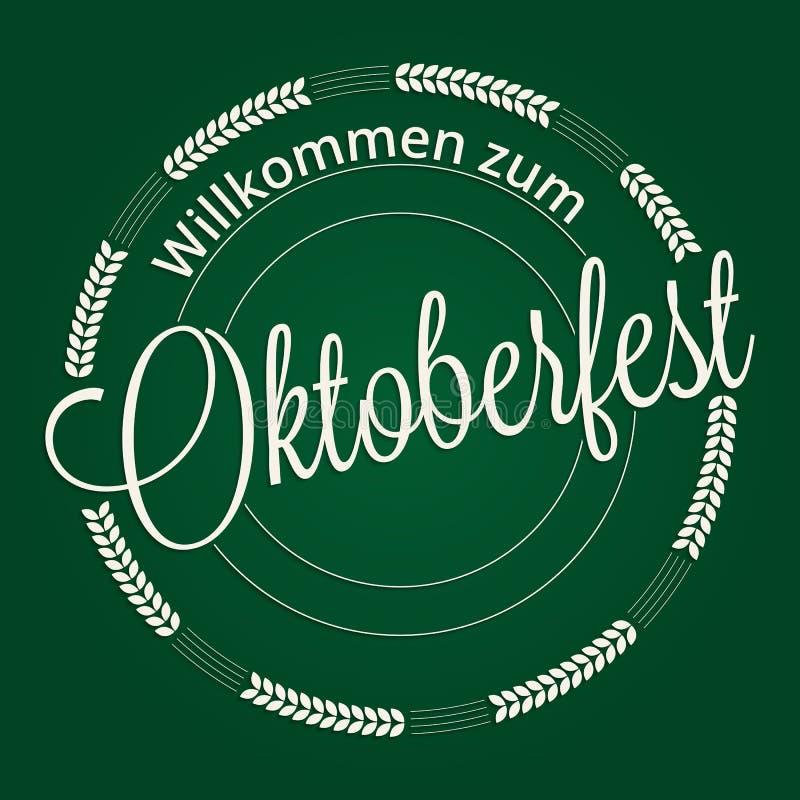 Oktoberfest lettering royalty free illustration