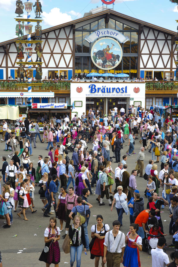 Oktoberfest in München lizenzfreie stockfotografie