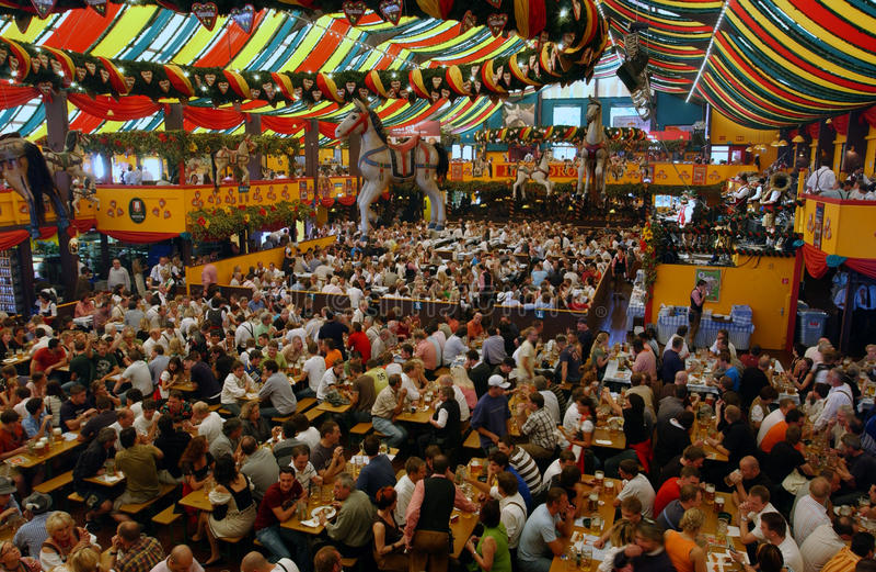Oktoberfest, münchen, Alemanha fotografia de stock royalty free