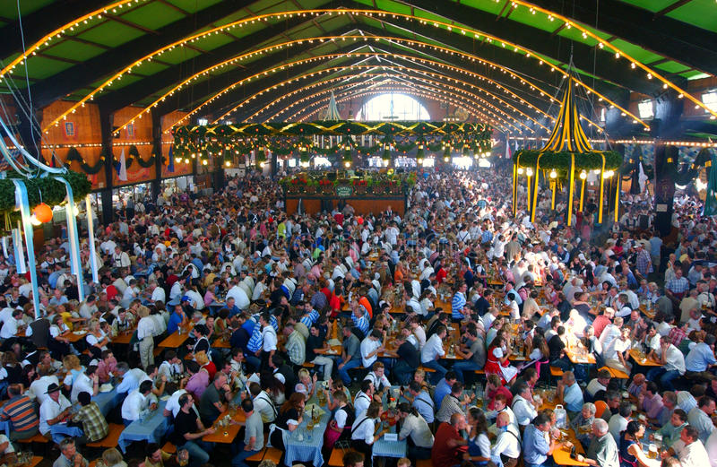 Oktoberfest, münchen, Deutschland stockbild