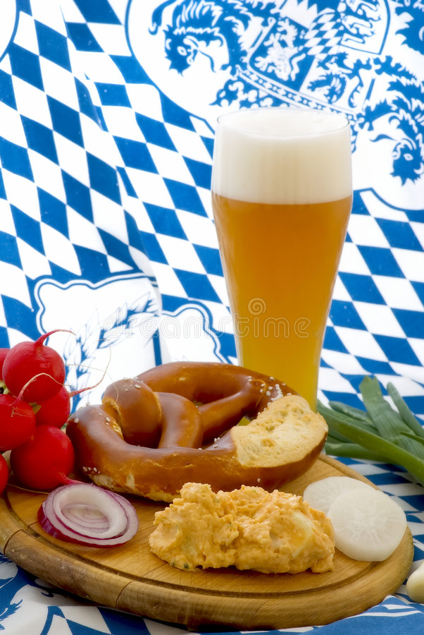 Oktoberfest Mahlzeit lizenzfreie stockfotografie