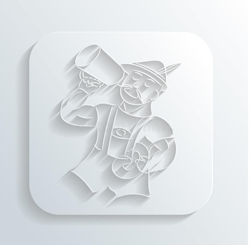 Download Oktoberfest Man Icon Vector Stock Photo - Image: 32828860
