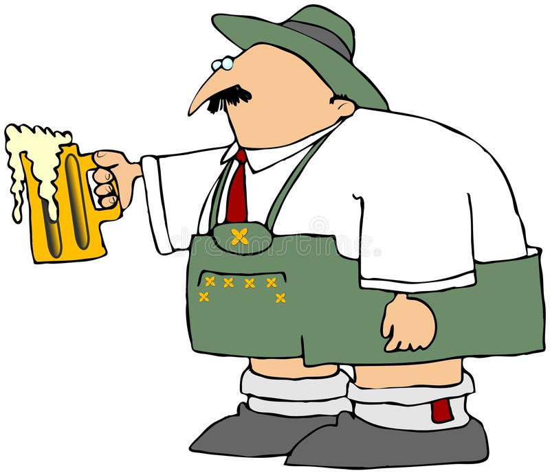 Download Oktoberfest Man With A Mug Of Beer Stock Illustration - Image: 10829788