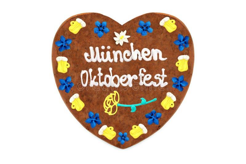 Oktoberfest Muenchen Gingerbread heart wengl. October festival royalty free stock photos