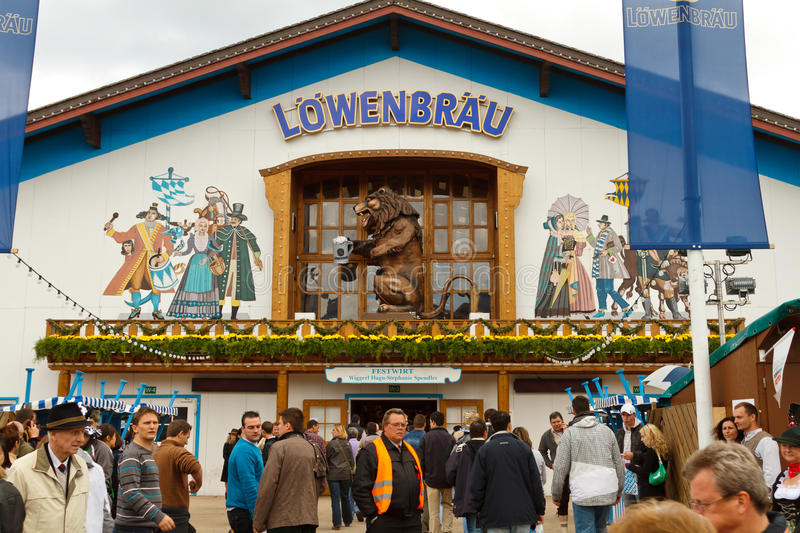 Oktoberfest in Munich Germany. On the traditional Oktoberfest in Munich with thousands people drinking good beer royalty free stock photography