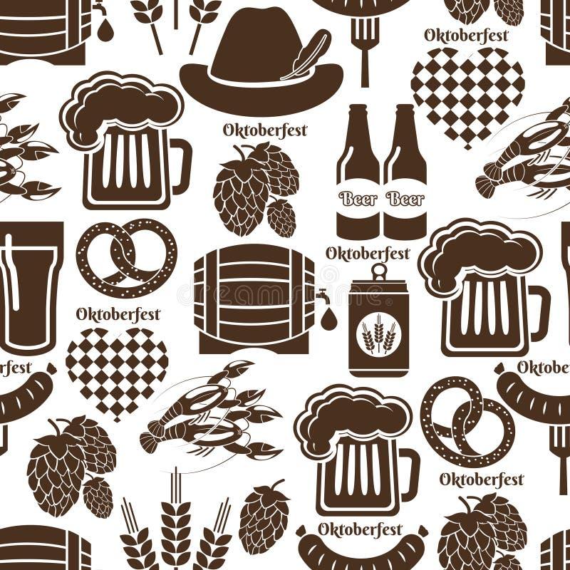 Oktoberfest naadloos patroon als achtergrond stock illustratie