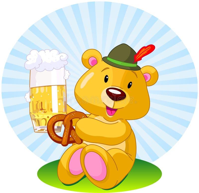 Oktoberfest niedźwiedź royalty ilustracja