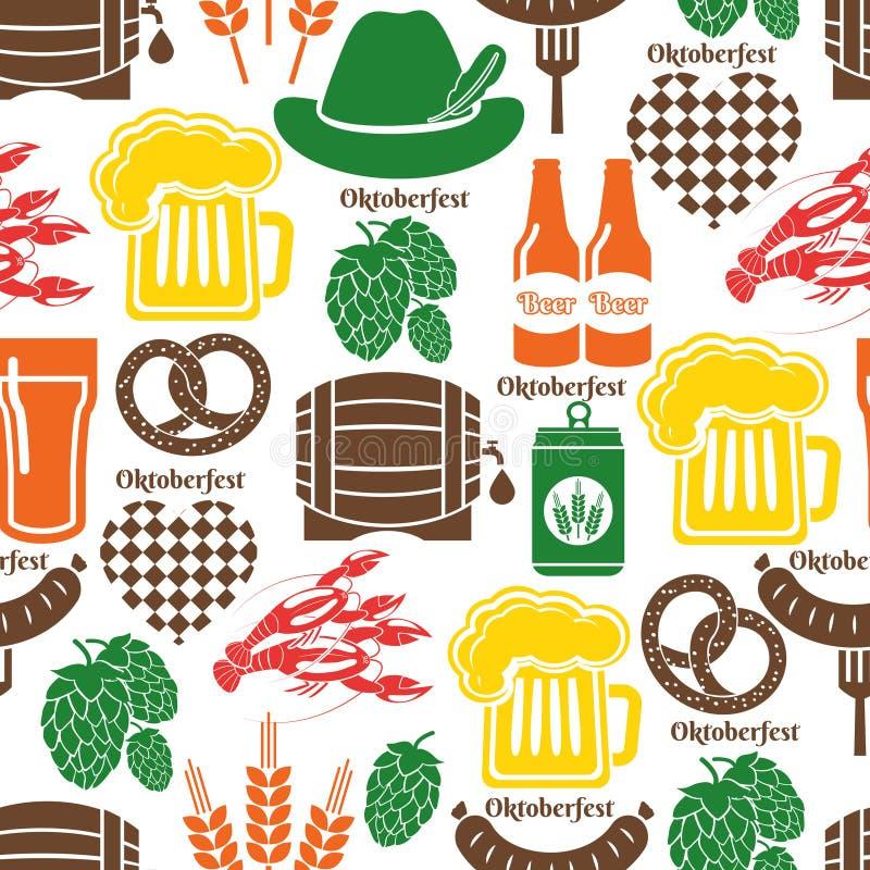 Oktoberfest pattern royalty free illustration