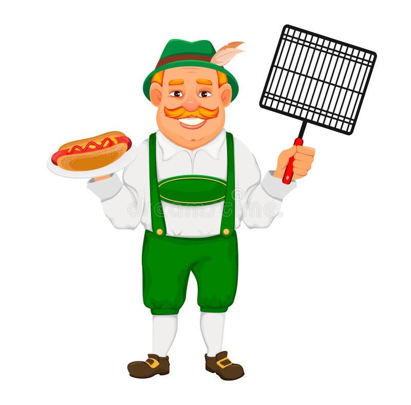 Oktoberfest, piwny festiwal Rozochocony m??czyzna royalty ilustracja