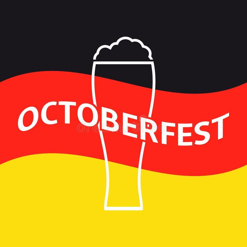 Oktoberfest poster stock illustration